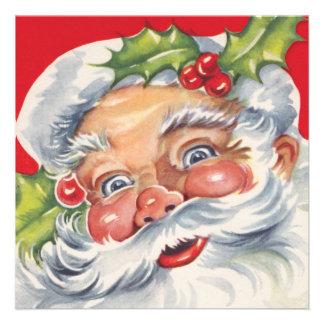 Fiesta de Navidad retra alegre de Papá Noel del vi Anuncio