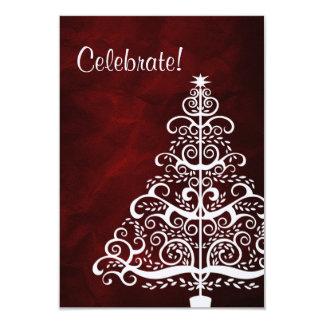 Fiesta de Navidad roja del árbol de plata