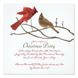 Fiesta de Navidad roja festiva de los cardenales Comunicado Personalizado