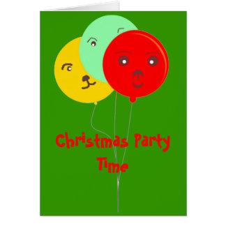 Fiesta de Navidad sonriente RSVP de los globos Tarjeta Pequeña