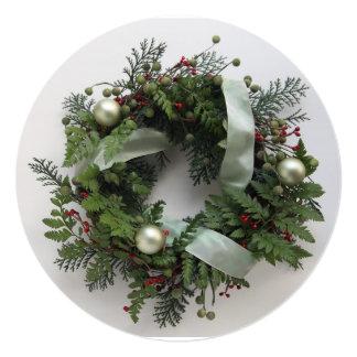 Fiesta de Navidad verde de la guirnalda del Comunicados Personalizados