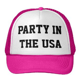 Fiesta de neón en el gorra del camionero de los E.