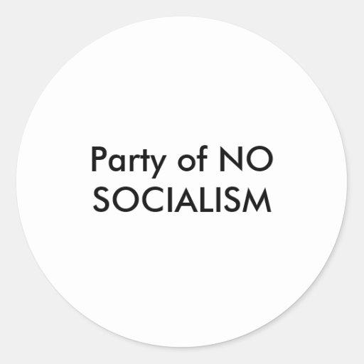 Fiesta de NINGÚN pegatina del SOCIALISMO
