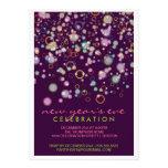 Fiesta de Noche Vieja de las burbujas de la celebr Invitación Personalizada