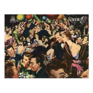 Fiesta de Noche Vieja del vintage Tarjetas Postales