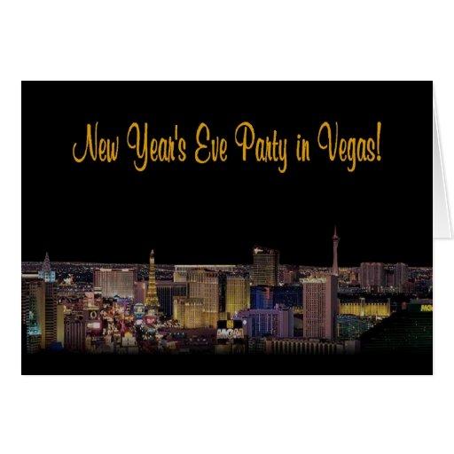 ¡Fiesta de Noche Vieja en Vegas! Tarjeta de la inv