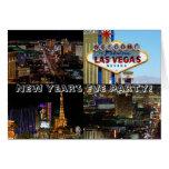 ¡Fiesta de Noche Vieja! Tarjeta de Las Vegas