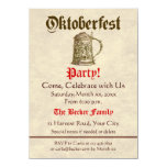 Fiesta de Oktoberfest Invitación 11,4 X 15,8 Cm