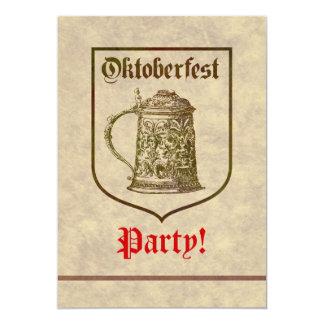 "Fiesta de Oktoberfest Invitación 5"" X 7"""