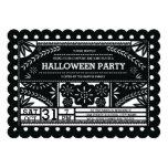 """Fiesta de Papel Picado Halloween Invitación 5"""" X 7"""""""