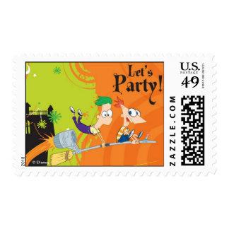 Fiesta de Phineas y de Ferb Halloween Estampilla