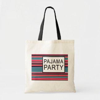 fiesta de pijama rayado bolsa