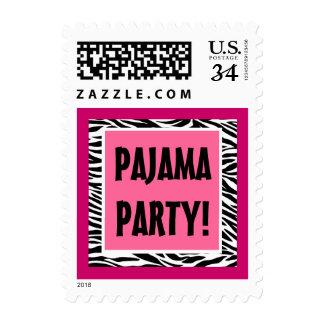 Fiesta de pijama rosado y negro de la cebra G204 Estampilla