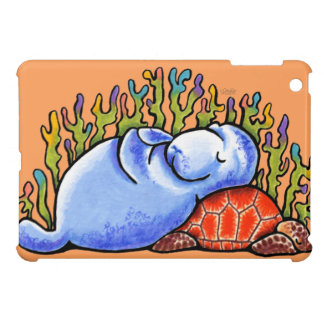 Fiesta de pijamas de la tortuga de mar del Manatee iPad Mini Cárcasa