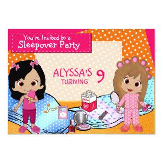 """Fiesta de pijamas de los chicas invitación 5"""" x 7"""""""