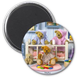 Fiesta de pijamas pequeña de los osos imán redondo 5 cm