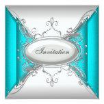 Fiesta de plata azul del trullo invitación