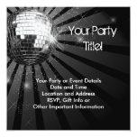 Fiesta de plata de la bola de discoteca de la invitación 13,3 cm x 13,3cm