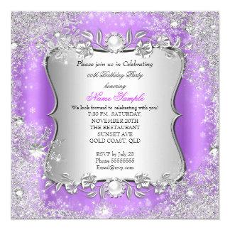 Fiesta de plata púrpura del copo de nieve del país