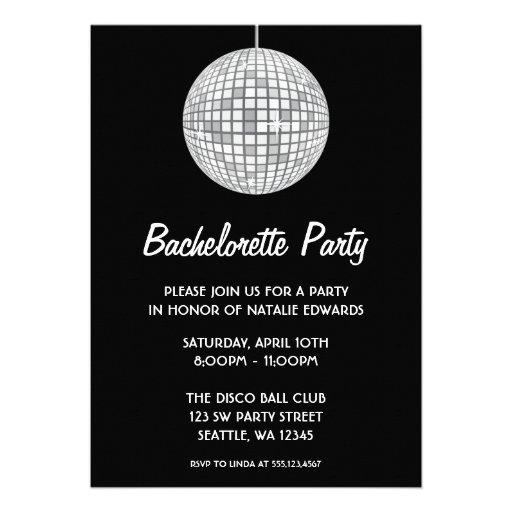 Fiesta de plata y negro de Bachelorette de la bola Comunicados