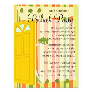 Fiesta de Potluck Comunicados Personalizados