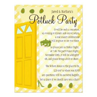 Fiesta de Potluck Invitacion Personal