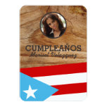 """Fiesta de Puerto Rico: Bandera: Foto personalizada Invitación 3.5"""" X 5"""""""