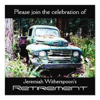 Fiesta de retiro antiguo del camión invitaciones personalizada