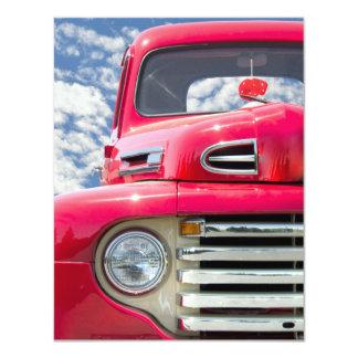 Fiesta de retiro retro del camión invitación 10,8 x 13,9 cm