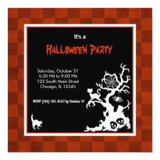 "Fiesta de Silhoutte Halloween Invitación 5.25"" X 5.25"""