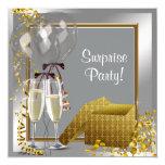 Fiesta de sorpresa de la plata y del oro del anuncio