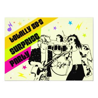 fiesta de sorpresa de los años 80 invitación 12,7 x 17,8 cm