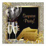 Fiesta de sorpresa del oro del negro del confeti comunicado personal