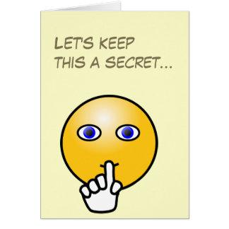 Fiesta de sorpresa secreto del emoticon del silenc tarjetas