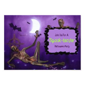 """Fiesta de Spooktacular Halloween Invitación 5"""" X 7"""""""
