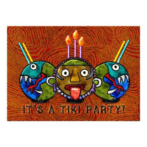 Fiesta de Tiki (invitación 2-Sided)