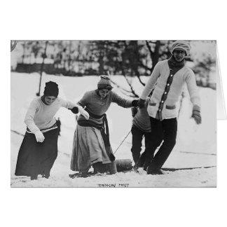 Fiesta de Tobbogan en 1910 Felicitaciones