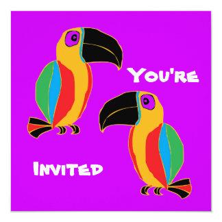 Fiesta de Toucan Invitación 13,3 Cm X 13,3cm