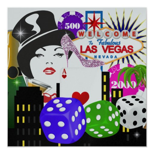 "Fiesta de Vegas - casino/póker - SRF Invitación 5.25"" X 5.25"""
