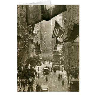 Fiesta de Wall Street, extremo de WW1, 1918 Tarjeta De Felicitación