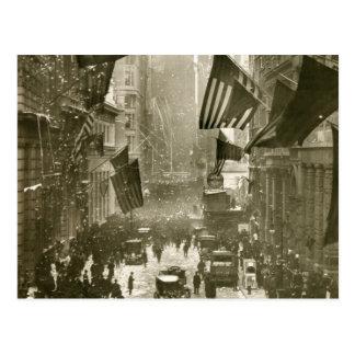 Fiesta de Wall Street, extremo de WW1, 1918 Tarjetas Postales