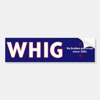 Fiesta de Whig Pegatina Para Auto