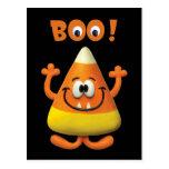 Fiesta del abucheo de Halloween de las pastillas d Postal