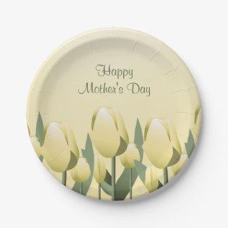 Fiesta del amarillo los 7in de los tulipanes de la platos de papel