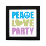 Fiesta del amor de la paz caja de joyas