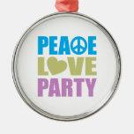 Fiesta del amor de la paz ornamentos de reyes magos