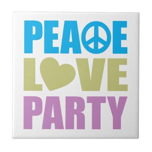 Fiesta del amor de la paz tejas  cerámicas
