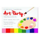 Fiesta del arte de la paleta de la pintura del invitaciones personalizada