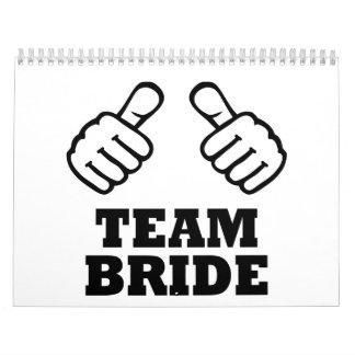 Fiesta del bachelorette de la novia del equipo calendarios