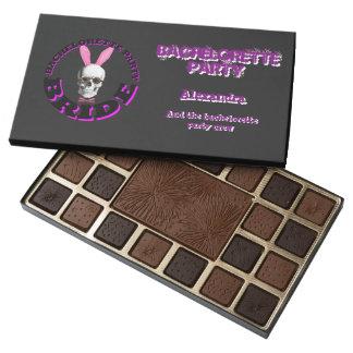 Fiesta del bachelorette del chica de conejito del caja de bombones variados con 45 piezas